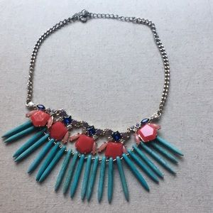 LOFT Statement Turquoise Necklace